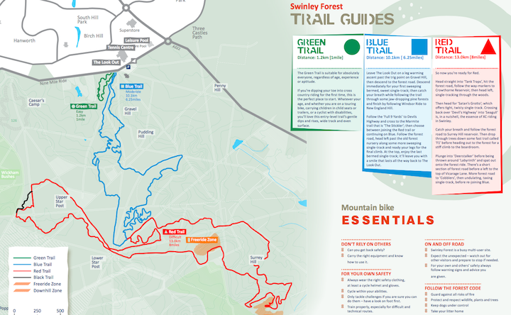 Swinley trail guide