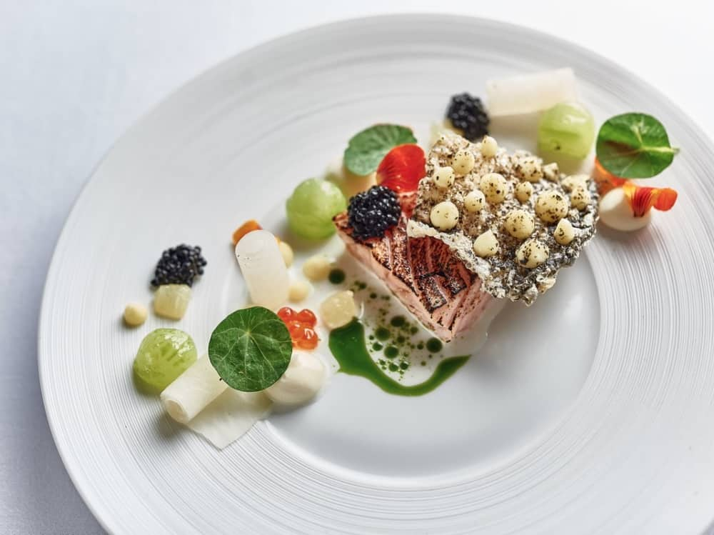 Chef Tom Clarke's beautiful Michelin star fish dish