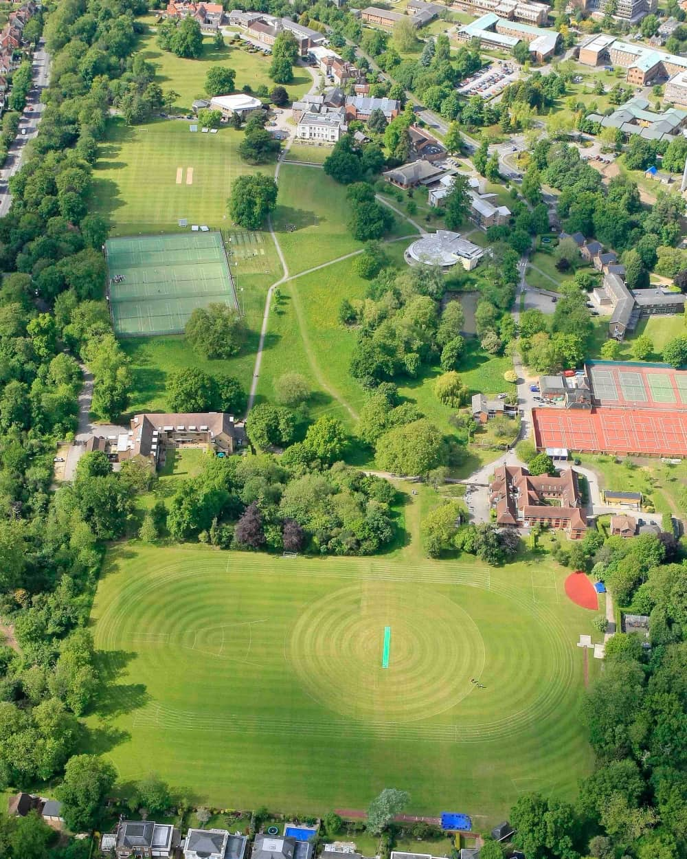 Leighton park Aerial 65 acres Reading Berkshire Green Lung