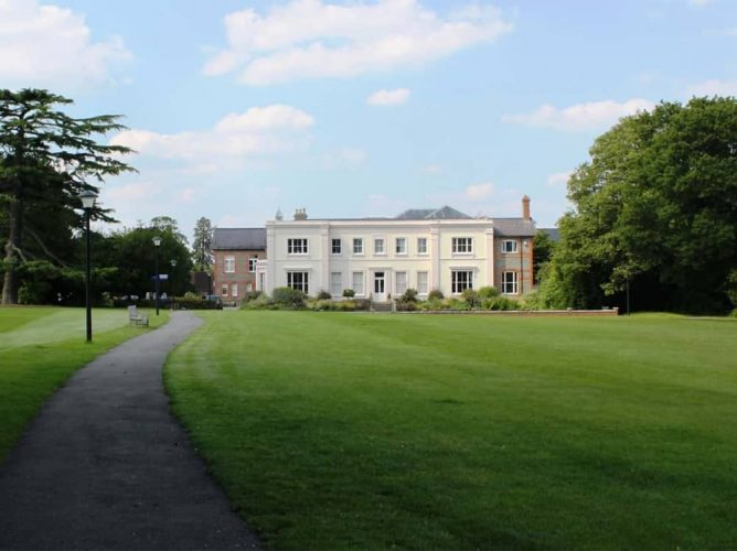 Leighton Park School Reading Berkshire white Victorian Mansion building set in 60 acres