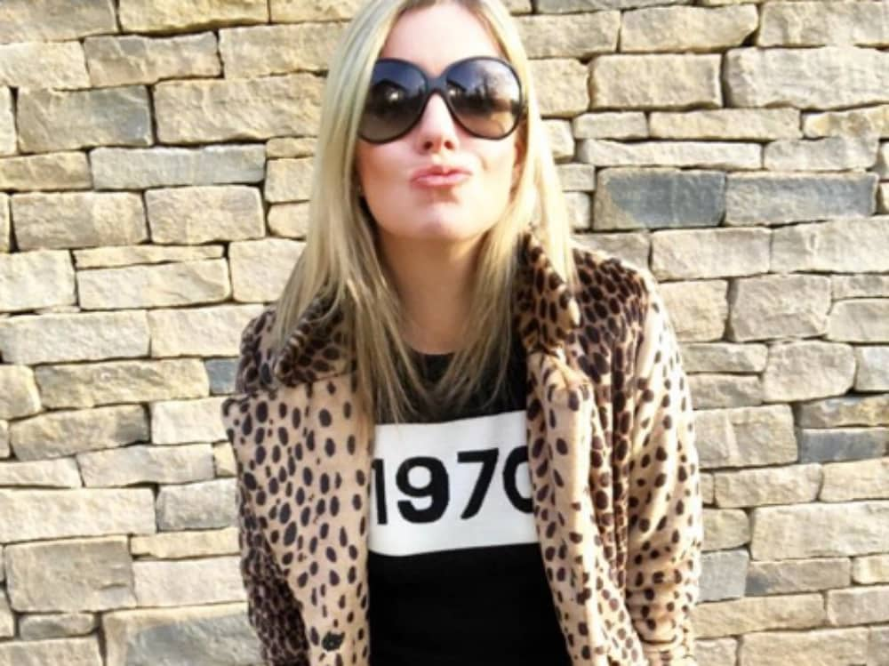 Claire McNestry Styling Leopard coat Bella fred jumper and bogs shahs