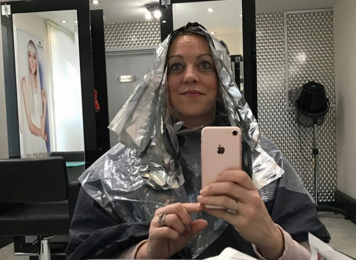 Foil hair balayage Julian's Hair Salon Newbury Berkshire Muddy Stilettos Editor Rachel jane