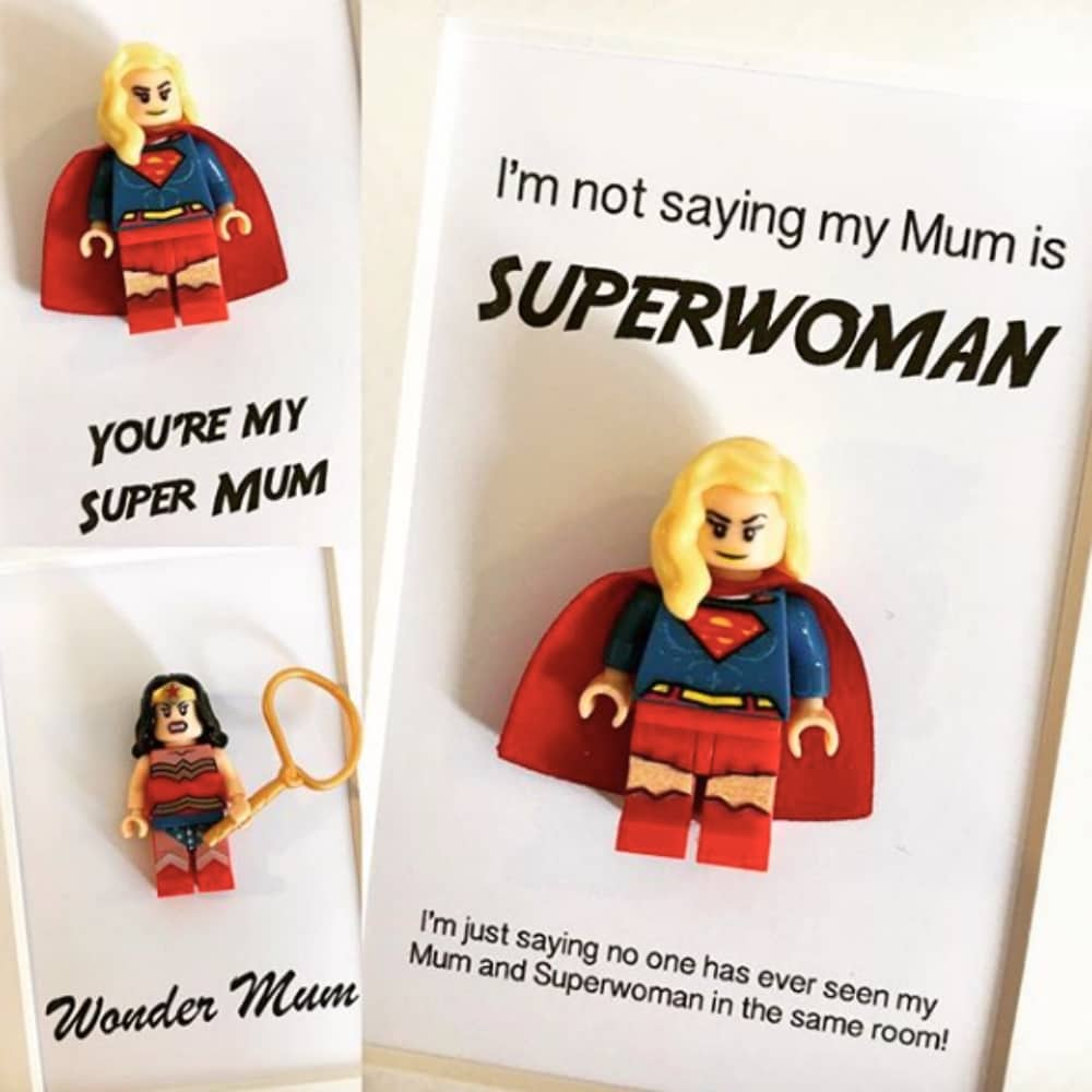 Tinkers Gifts mini figure frames with wonder woman super girls Mother's Day gifts