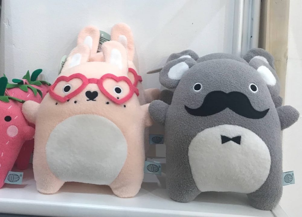Cool and cute cuddly toys for kids rabbits wearing heat shaped glassed and bears with moustaches