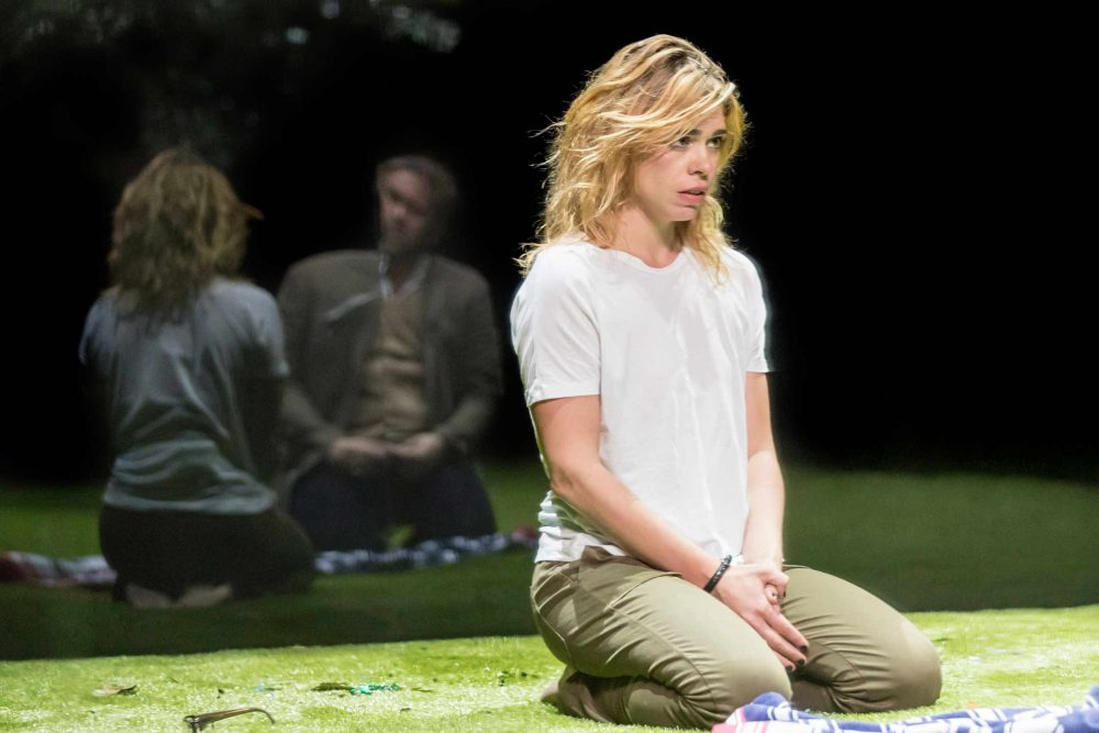Billie Piper on stage at the Young Vic in the theatre production of Yerma