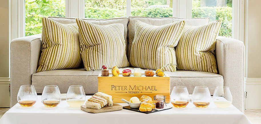 The Vineyard discovery afternoon tea with a selection of teas to compliment each course