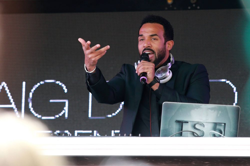 British R&B artist Craig David performing live in 2017