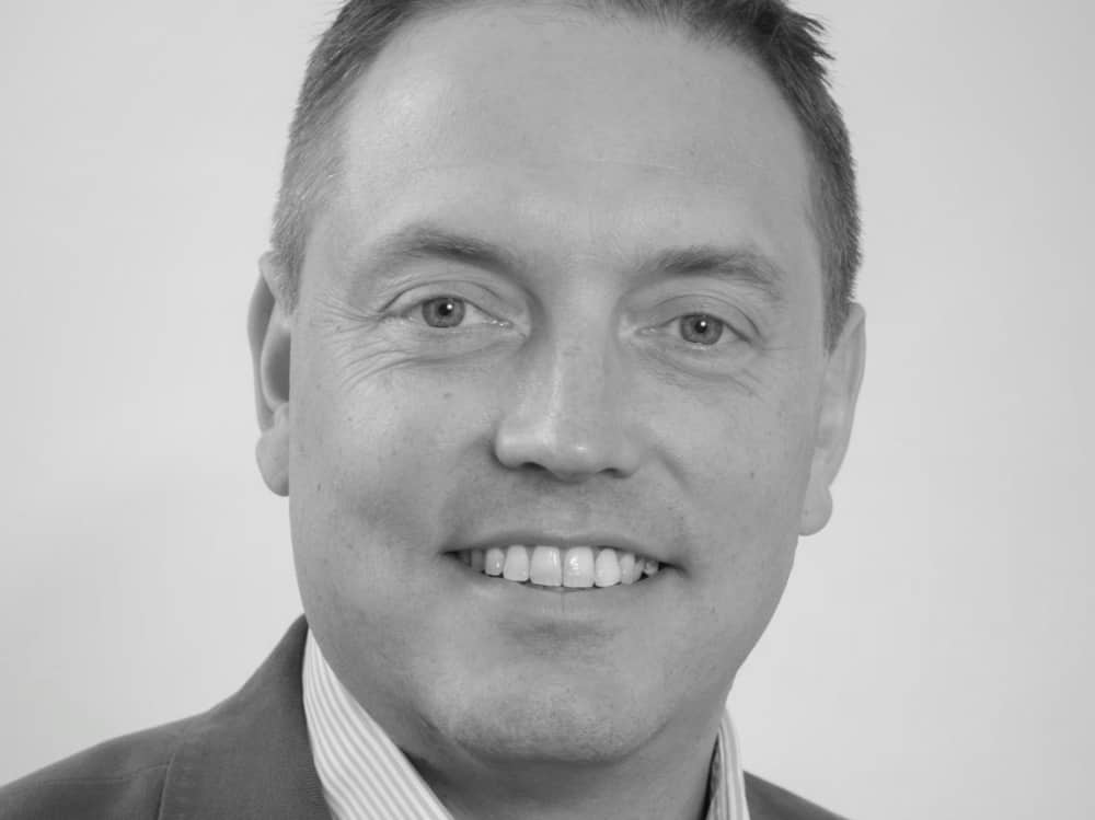 black and white image of IT expert Barnaby Relf – owner of IT As A Service in Berkshire