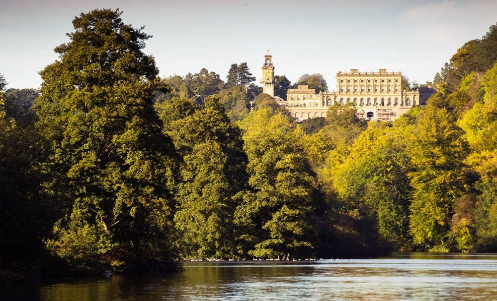 The Italianate mansion, known as Cliveden House, crowns an outlying ridge of the Chiltern Hills close to the hilltop village of Taplow in 365 acres of park and woodland