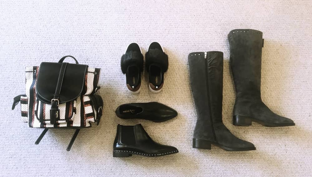 AW17 bags and shoes – cute backpack, cool trainers and classic boots in blacks and greys