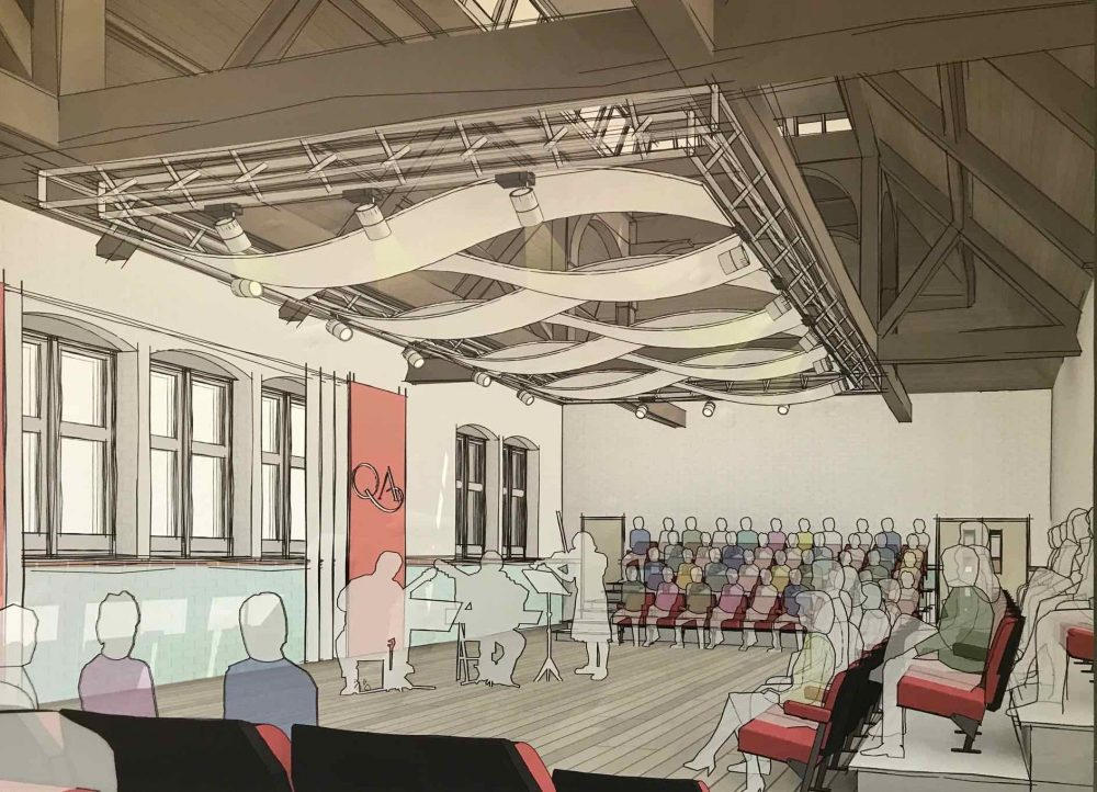 Proposed design of the new performance space at Queen Anne's Caversham