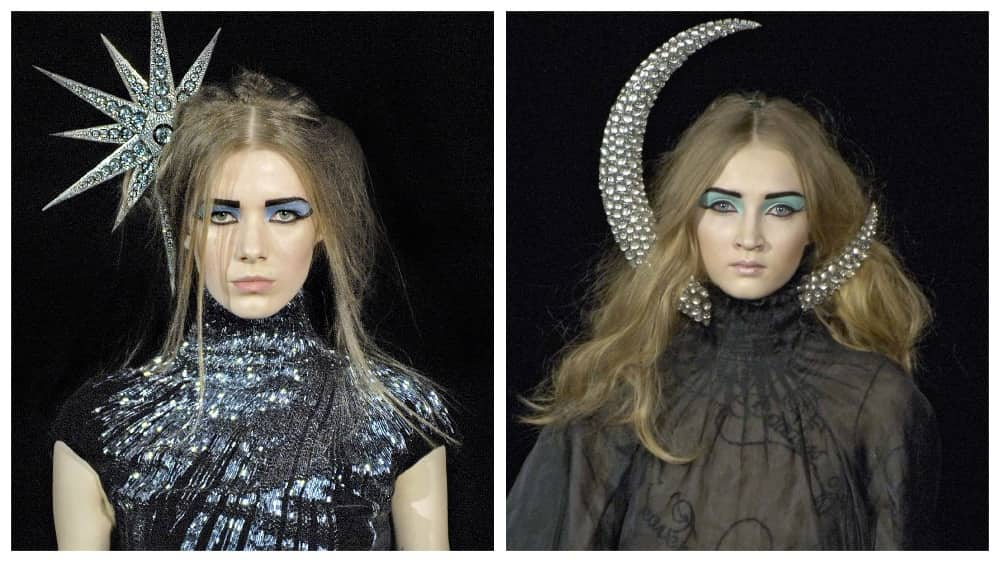 Shaun Leane's Moon and star headpieces for Alexander McQueen