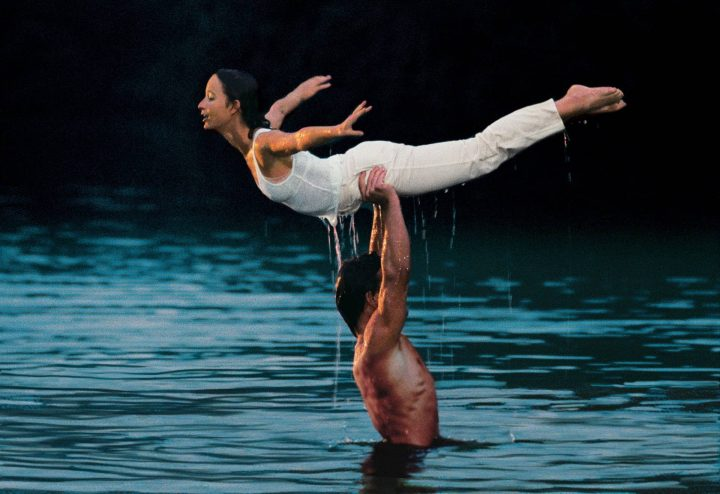 Patrick Swayze jennifer grey water lift practice Dirty Dancing