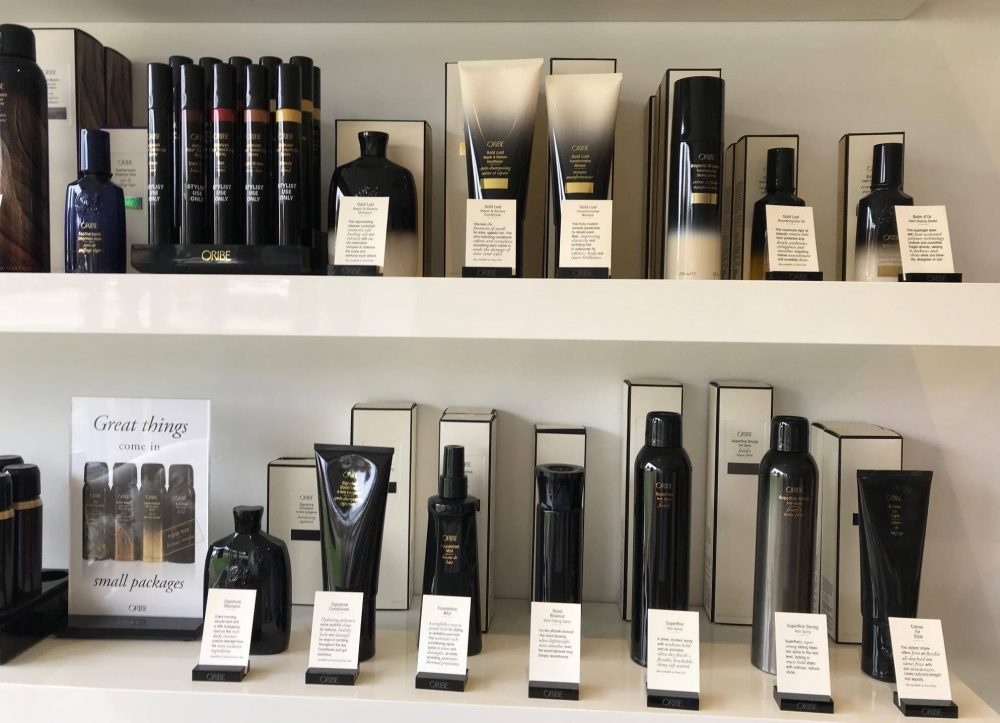 Oribe vegan friendly hair products at Honey B Hair and Beauty Bar Wokingham