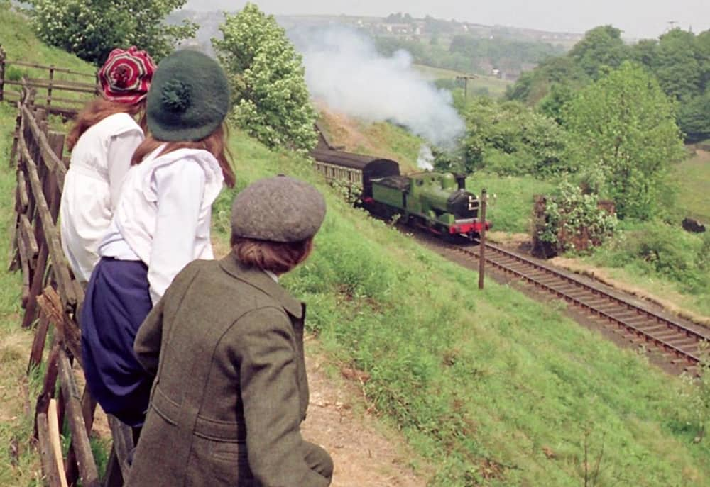 The Railway Children, original 1970 film with the iconic steam train starring Jenny Agutter