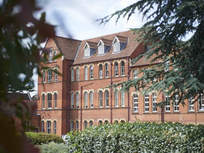 Imposing red brick victorian former convent now one to St Joseph's College Reading