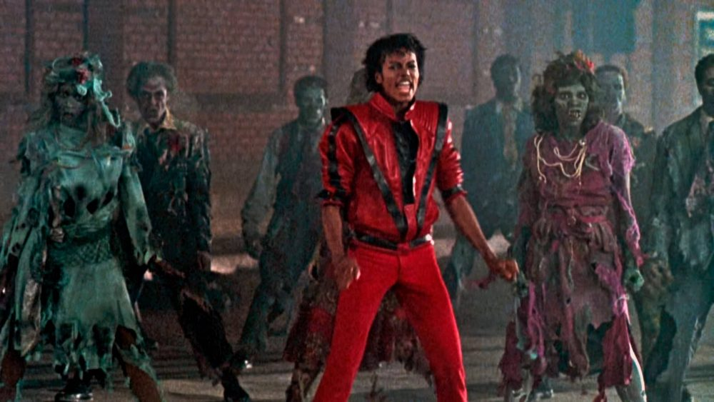 Spooky music for Halloween Michael Jackson's zombie fest for Thriller