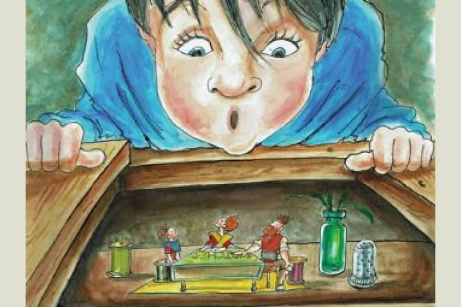 The Borrowers at The Watermill Newbury illustration for the new Christmas show