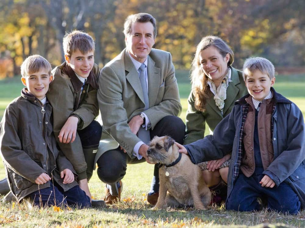 Tweed and wax jackets are a must have when you run a country prep school – meet Horris Hill Prep headmaster Giles Tollit, his wife Molly and their three boys… and the dog