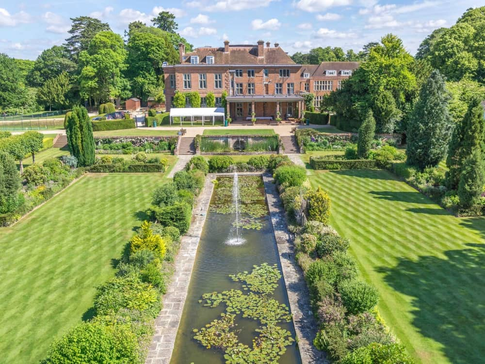 Manicured gardens and manor house of Cheam School on the Berkshire Hampshire border