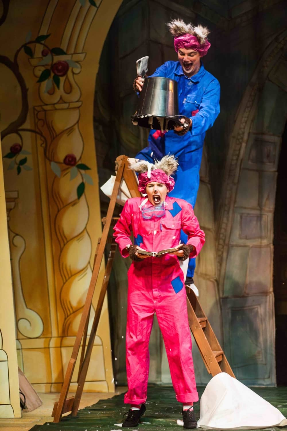 Slapstick fun with Pickle and Lilly in Beauty and the Beast Corn Exchange Newbury