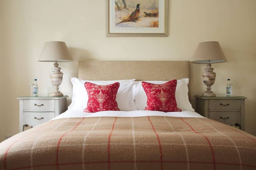 Modern rustic decor of the award-winning boutique hotel at The Royal Oak Yattendon West Berkshire