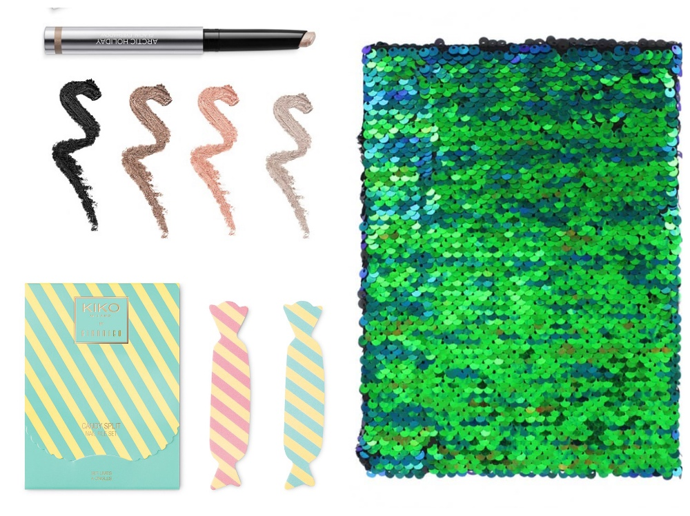 Kiko Cosmetics and paper chase sequin notebooks