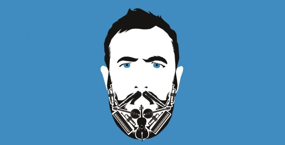 Graphic print go musical comedian Alex Horne for his comedy show The Horne Section
