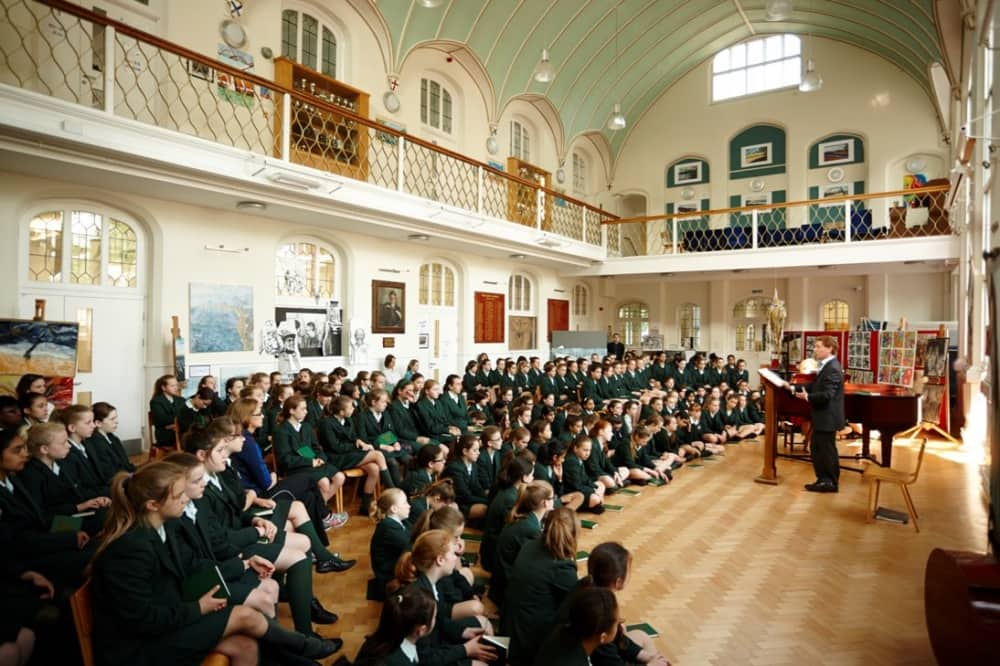 Abbey School Reading ornate large assembly hall