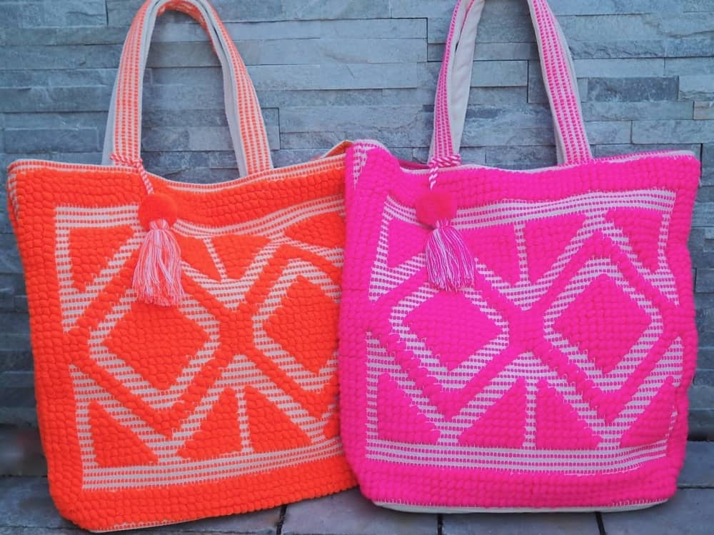 Orange and pink behave bags Git pop
