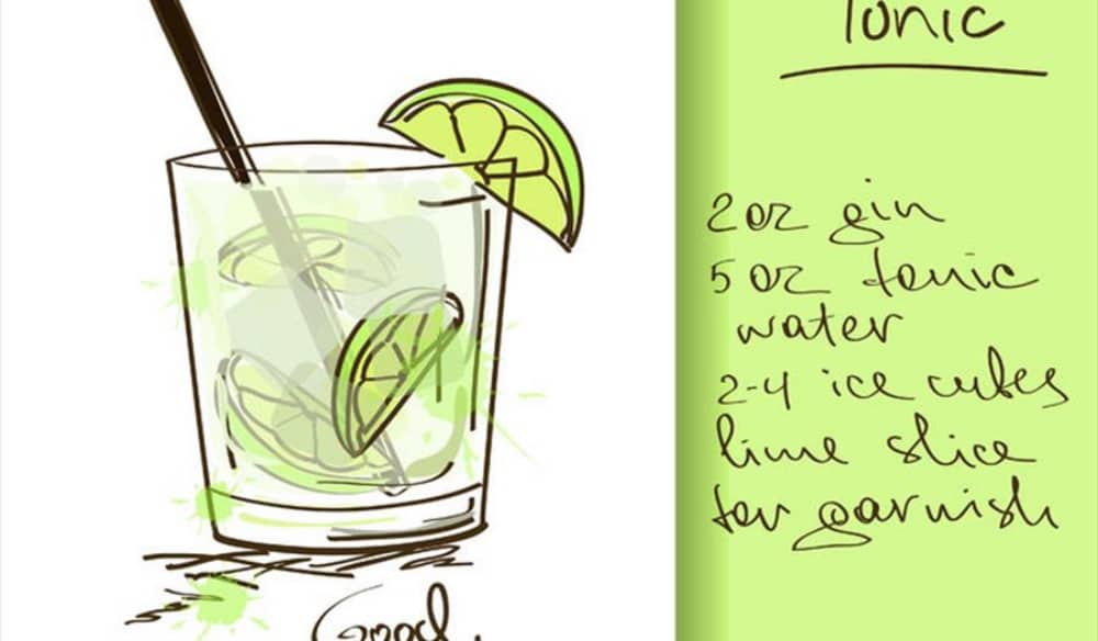 gin and tonic illustration to make the perfect G&T