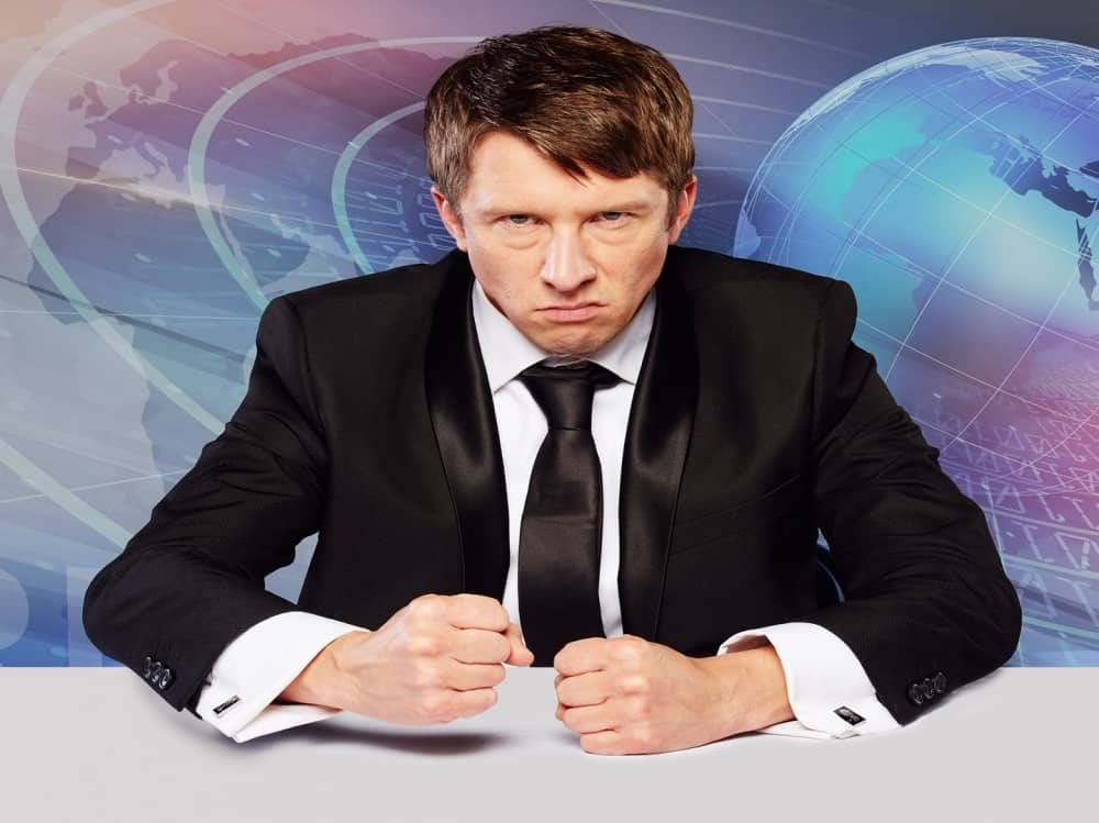 Comedian Jonathan Pie Back in the studio – frustrated news reporter