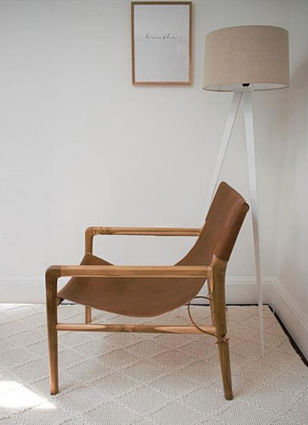 RAINE AND HUMBLE LEATHER SLING CHAIR