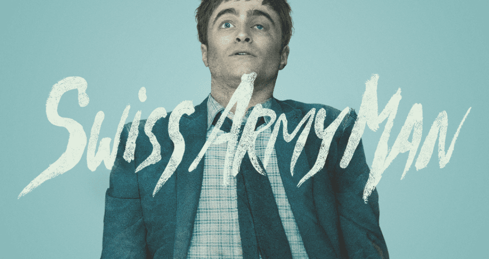 Daniel Radcliffe as corpse Manny in Swiss Army Man