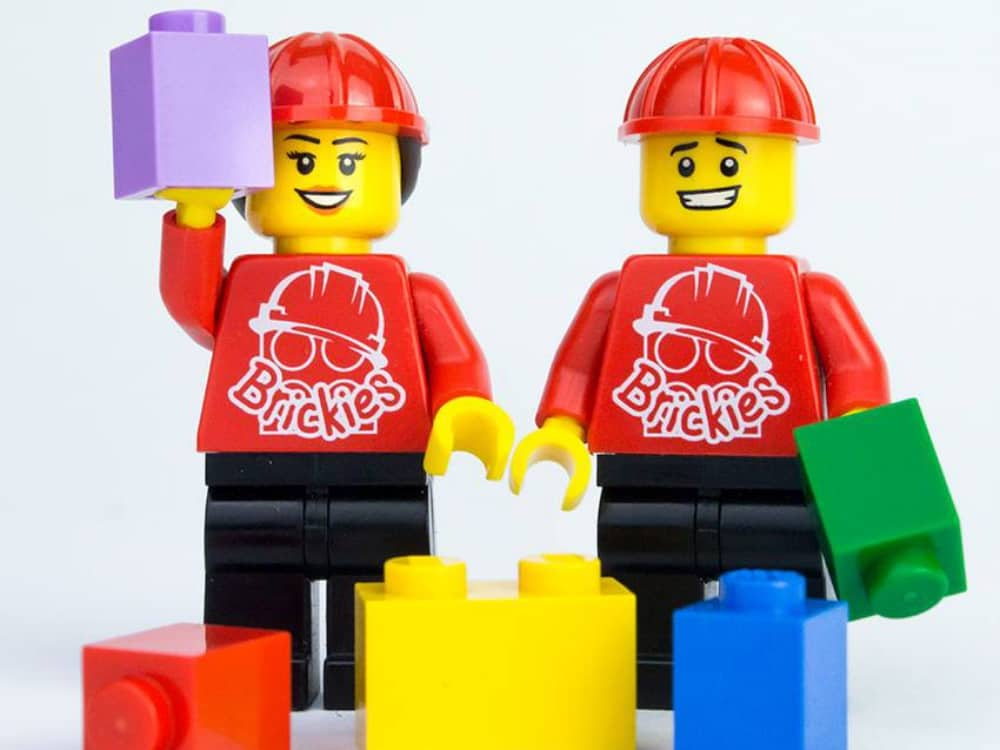 Lego mini figure Brickies Club Berkshire