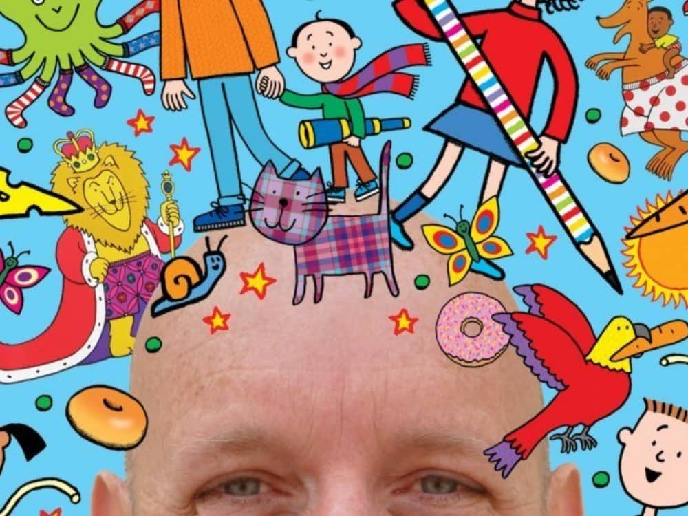 Illustrator Nick Sharratt Big Draw Along Corn exchange Newbury