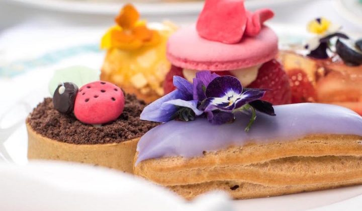 Afternoon tea favourites – Macrons, cakes and eclairs