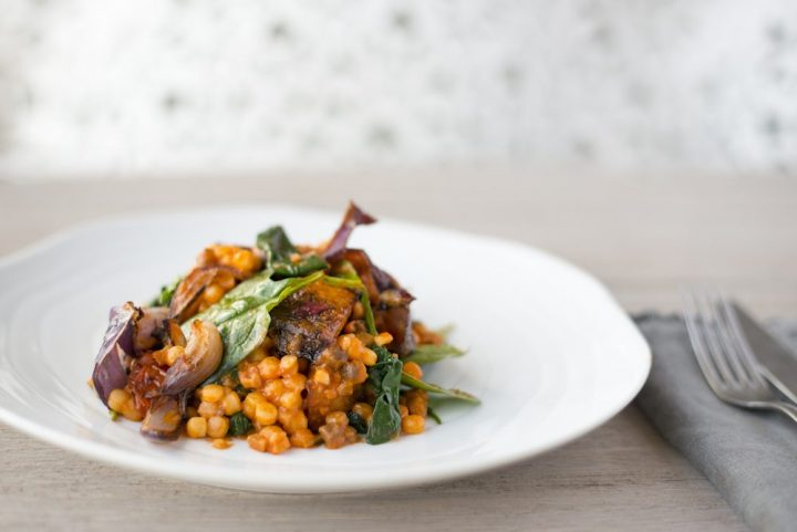 Speedy supper recipes roast squash spinach and feta fregola pasta recipe