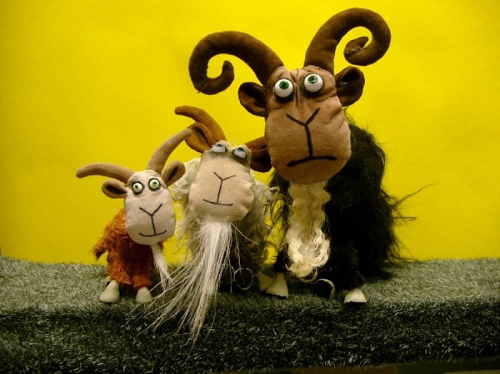 Three Billy Goats puppets