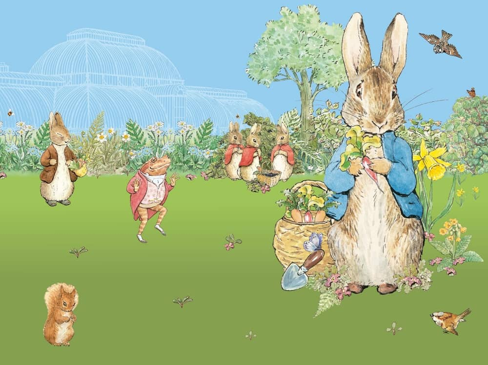 Peter Rabbit illustration Kew Gardens