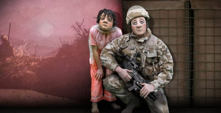 A Brave Face soldier and child Vamos Theatre