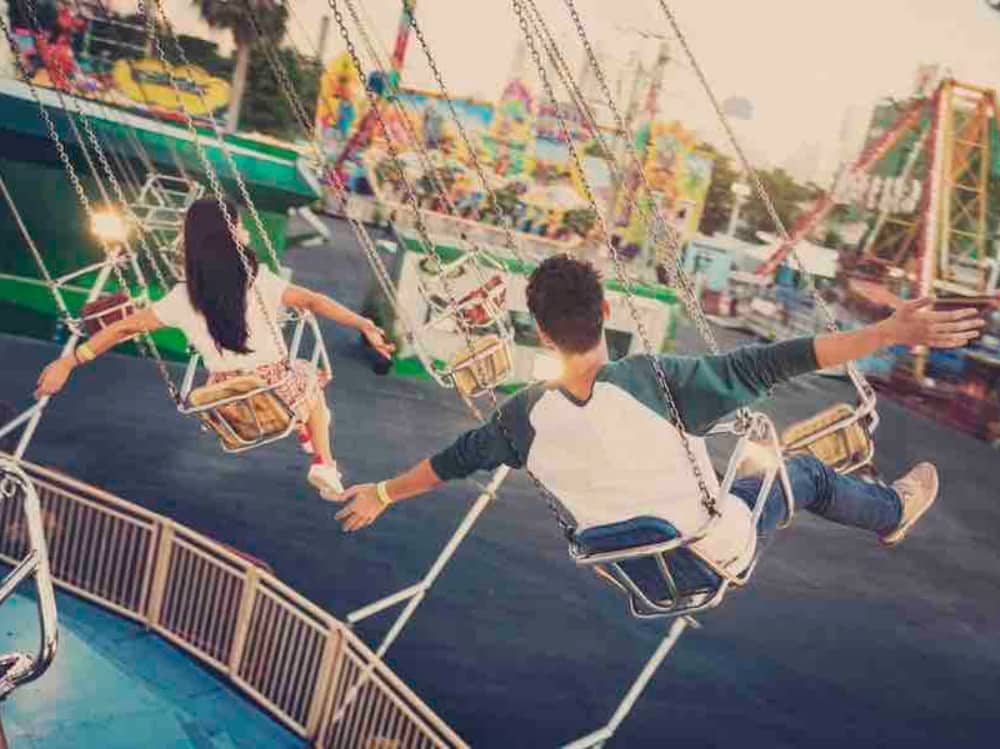 Chair swing fun fair