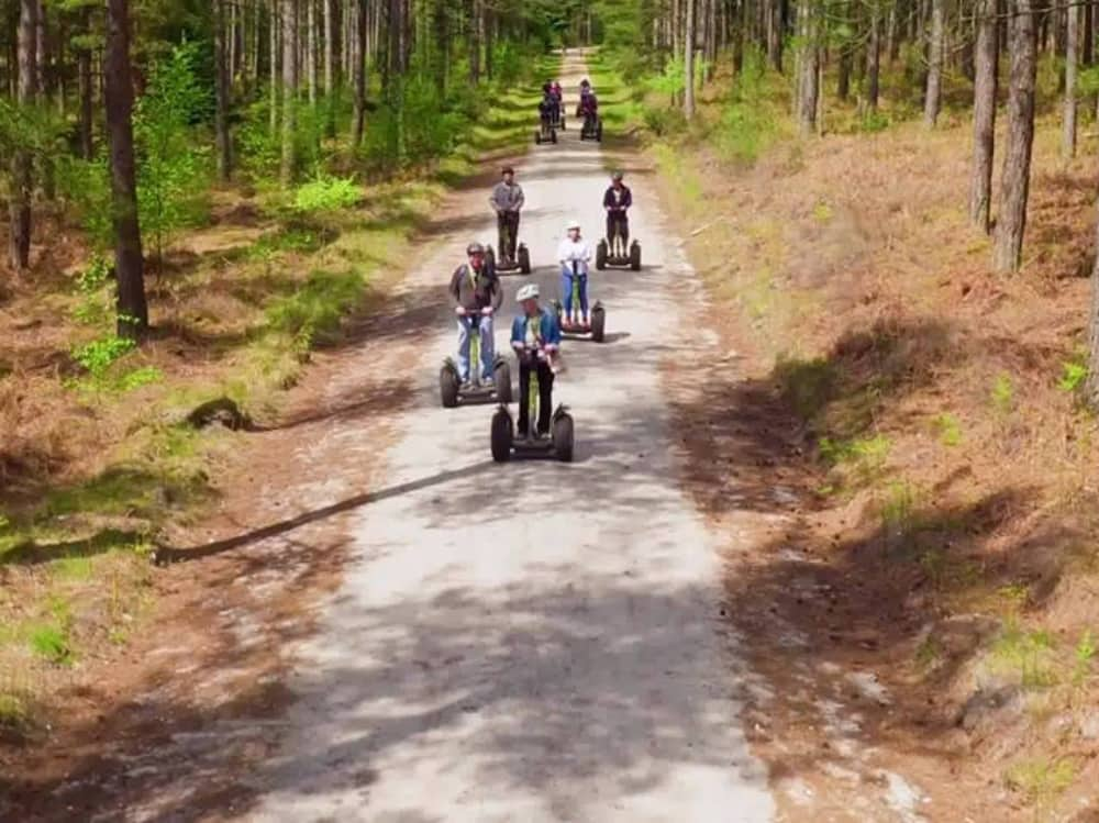 8 segway riders forest adventure trail Go Ape Berkshire