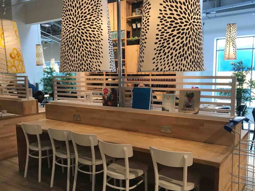 Scandi design at Ikea restaurant Reading offering work spaces and free wifi