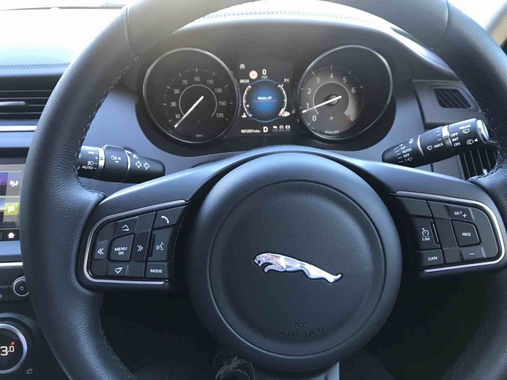 Jaguar E Pace steering wheel and dials Muddy Stilettos review
