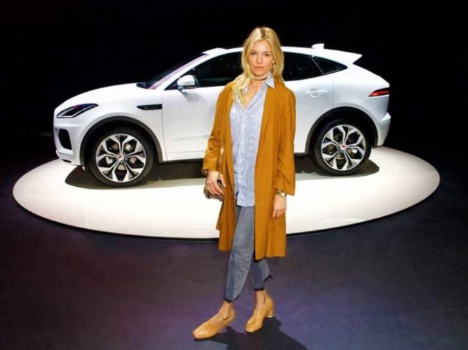 Sienna Miller helps launch the Jaguar E-Pace