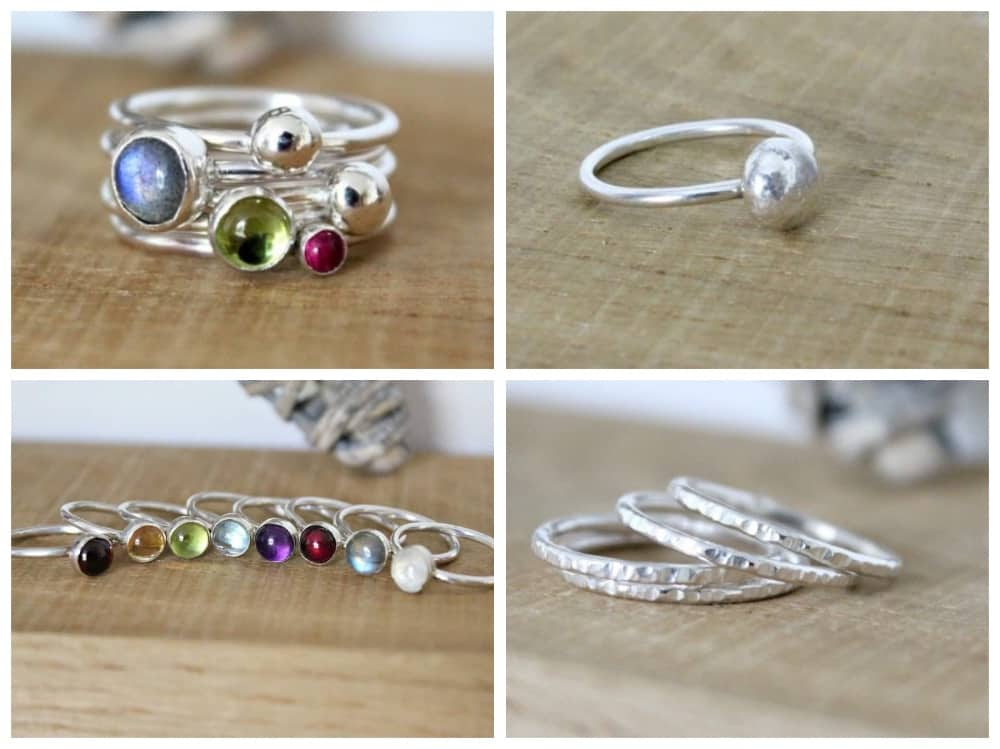 Limezest Jewellery Newbury Stacking rings Muddy Stilettos Berkshire