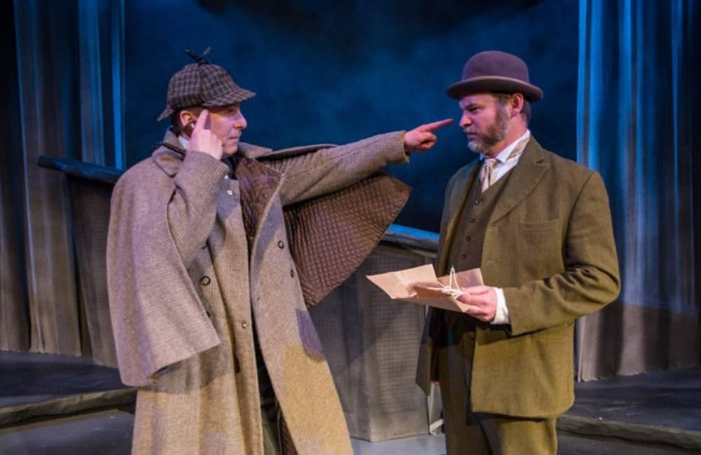 James Tucker and Darrell Brockis in The Hound of the Baskervilles at Mill at Sonning.