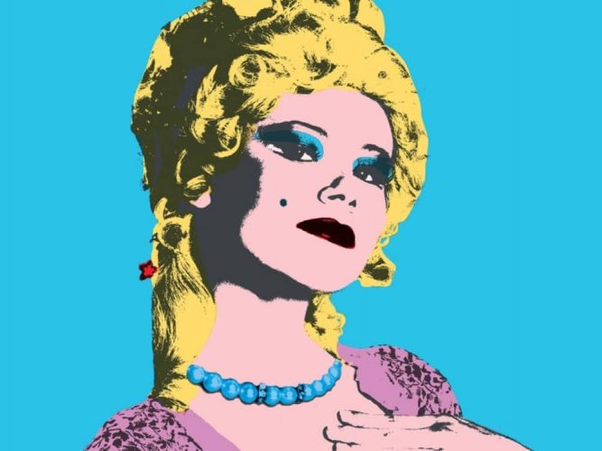 The Rivals Watermill Theatre newbury pop art poster of blonde woman