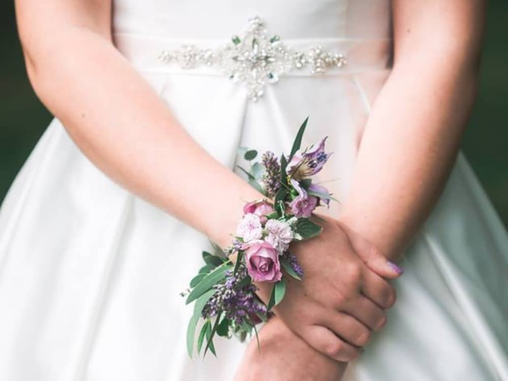 stunning floral cuff for a bride alternative to bouquet